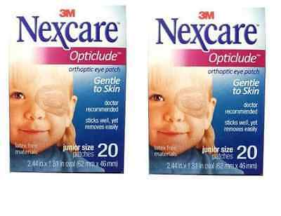Nexcare Opticlude Orthoptic Eye Patches - 2 1/2 x 1, Junior - 60 Each / Box The Elixir Beauty MJ Care Mask Sheet 20 PCS Mask Pack Essence Facial Mask Korean Cosmetic (23g, Green Tea)