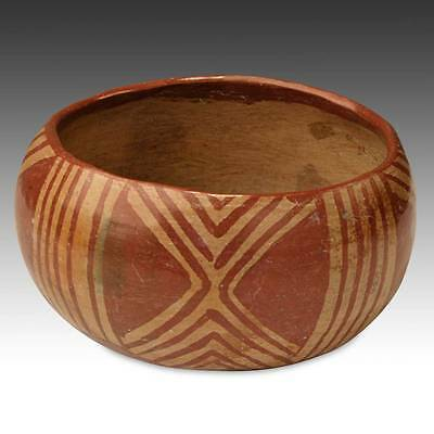 Pre-Columbian Bowl Painted Pottery Chupicuaro Culture West Mexico 300 - 600 Ce