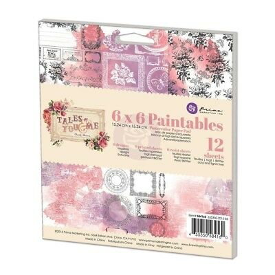 Prima Marketing Tales of You & Me 6 x 6 Paintables Watercolor Paper Pad