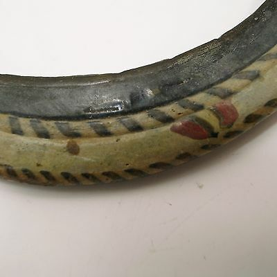 Roman glass antique bracelt with 200 BC / AD inlaid in differnt colors