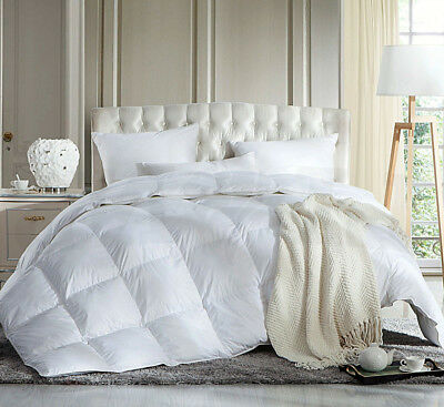 New Soft Quilt Duvet Filled Hollowfiber Anti Allergy Polycotton white Tog 4.5