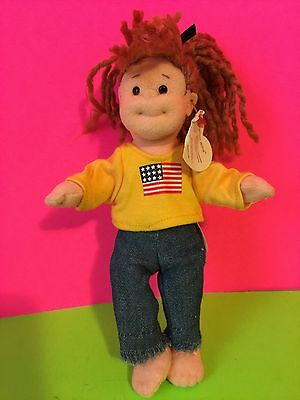 "TY Teenie Beanie Boppers ""American Millie"" Plush Doll"