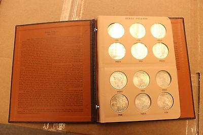 Silver Peace Dollar Book- Lot Of 14 Good Condition (7070-Dollar-Tss)