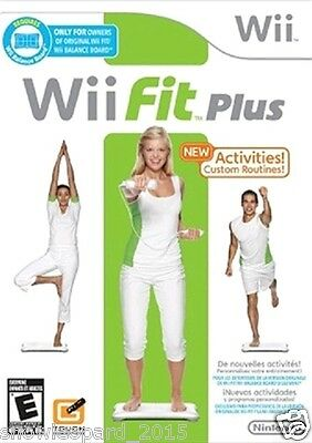 WII FIT PLUS WII Nintendo Video Game Compatible with Balance Board WII U