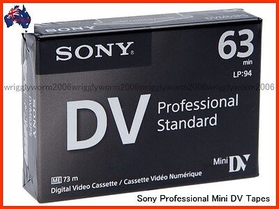 50x Sony DVM63PS PROFESSIONAL MiniDV Tape / Cassettes DVM63PS Mini DV
