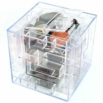 New MONEY MAZE COIN BOX PUZZLE GIFT PRIZE SAVING BANK T1