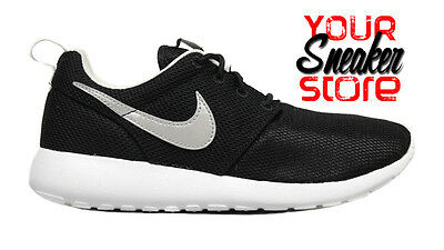 6c363744a2 Nike Big Kid's Roshe One (GS) Shoes NEW AUTHENTIC Black Silver White 599728-