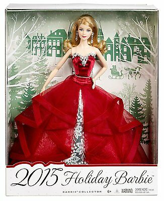Barbie Collector 2015 Holiday Barbie Chr76 *new*