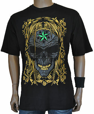 New DMS Hip Hop Gangster Goth Embossed 3D Printed SS T-Shirt S-XXL
