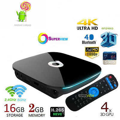 QBOX 2GB/16GB Amlogic S905 Mali-450 Android 5.1 Smart TV BOX Dual WIFI Mini PC
