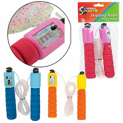 Skipping Rope With Counter Fitness Boxing Jump Exercise Gym Foam Grips Workout