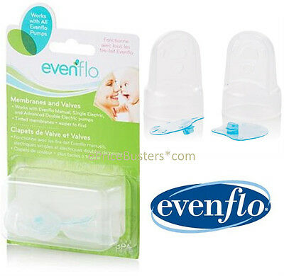 New and Sealed Evenflo Breast Pump Feeding Replacement Membranes and Valves