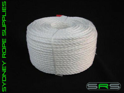 100Mtrs X 10Mm High Strengh Polypropylene White Rope