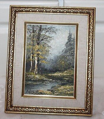 Oil Painting Nature Scene Signed 8x10