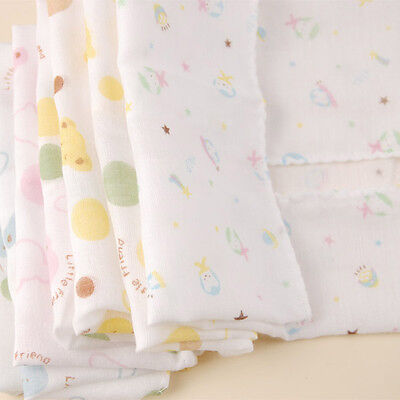 1PEICE Baby NewBorn Gauze Muslin Square Cotton Bath Wash cloths bibs Towel 28*28
