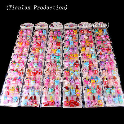 Wholesale 40pcs Mixed Lot Flower Baby Kid Girls Hair Pins Clips Hair Accessories