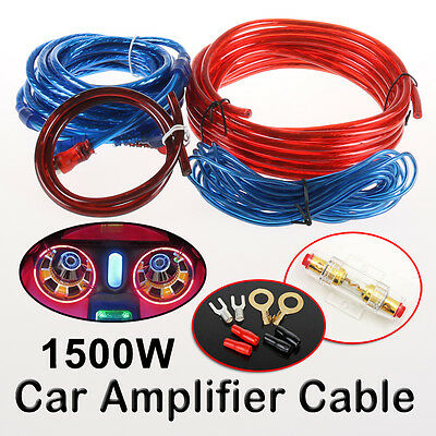 New 1500w Car Amplifier Wiring Kit Audio Subwoofer AMP RCA Power Cable AGU FUSE