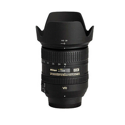 High Quality HB-39 Camera Vented Lens Hood For Nikon DX18-300mm f3.5-6.3GED