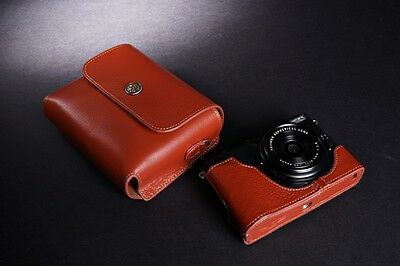Genuine Real Leather Full Camera Case Bag Cover Pouch for FUJIFILM X70 Brown
