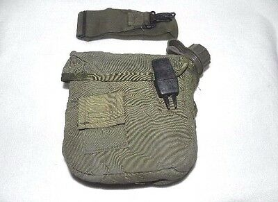 US Military Surplus Collapsible Canteen (New) Carrier W/Sling (Used) 2 Quart OD
