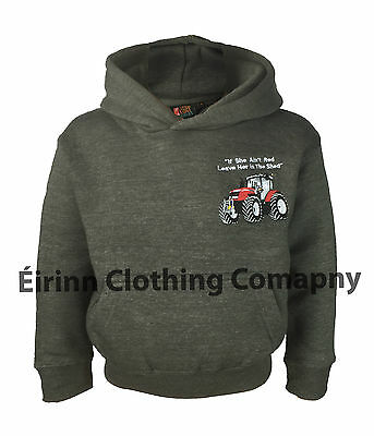 New Kids Cottonridge Premium Massey Ferguson Tractor Logo Farm Wear Hoodie