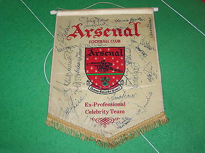 Vintage Arsenal FC Pennant Signed by 22 Legends Rocastle Adams Graham Rice etc