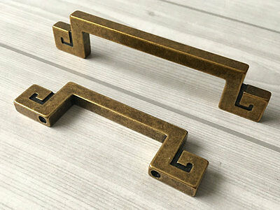 "2.5"" 3.75"" Drawer Pull Dresser Pulls Cabinet Door Handle Antique Brass 64 96 mm"