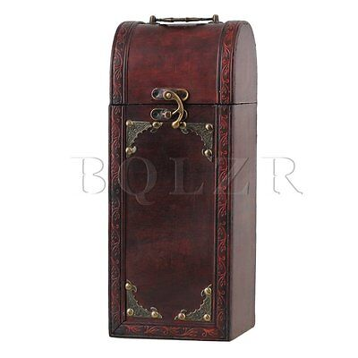 Antique Exquisite Maroon Lightweight Retro Wood Wine Box Suitable for Gifts
