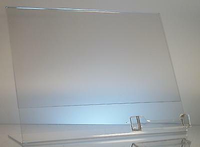 Clear acrylic 11 x 8.5 sign display with business card holder wholesale