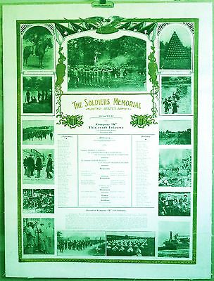 The SOLDIERS MEMORIAL 1909 U S ARMY ORIGINAL '*LOWERED 25% more* poster on LINEN