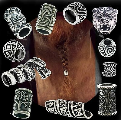 Hair Beard Bead Ring Silver 925 viking celtic northman dreadlock pirate medieval