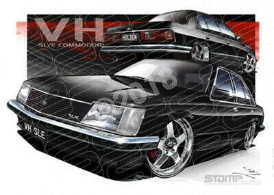 Commodore VH VH SLE FR SIMMONS BLACK  STRETCHED CANVAS (HC523)-New_Itemq