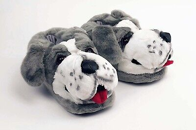 Sheep Dog Slippers -  Gray & White Animal Slippers - Adult & Kids Sizes In Stock