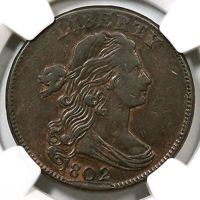 1802 S-226 NGC VF 30 Draped Bust Large Cent Coin 1c