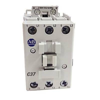 AB BULLETIN 100-C 3 POLE CONTACTOR, 37 A, 18.5 kW, 24 V DC COIL 100-C37EJ00