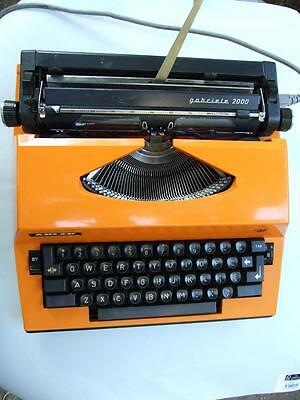Vintage Adler German Portable Orange  ElectricTypewriter Retro 1970's
