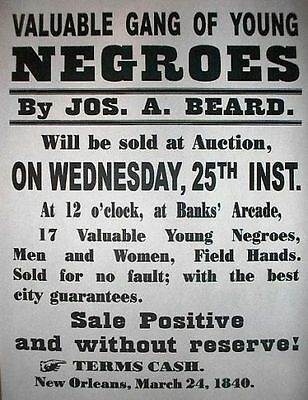 History Valuable Slave Poster Teaching and collectible