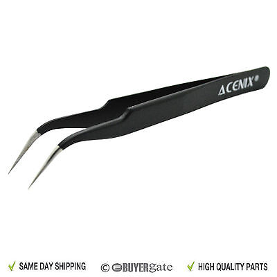 ACENIX® Professional Anti Magnetic StainlessSteel Repair Tweezer Tool Curved Tip