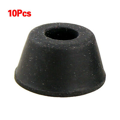 10Pcs 21mm x 12mm Black Conical Recessed Rubber Feet Bumpers Pads T1