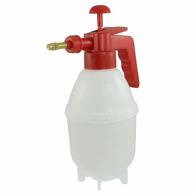 Red Handle White Body Plastic Water Spray Bottle Pressurized Sprayer T1