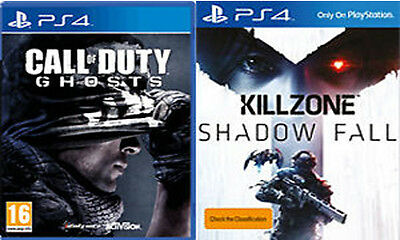 Call of Duty Ghosts & Killzone Shadow Fall Sony PS4 New & Sealed
