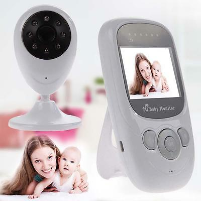 """2.4GHz Wireless 2.4"""" TFT LCD IR LEDs Video Baby Monitor with Night Vision NEW GL"""