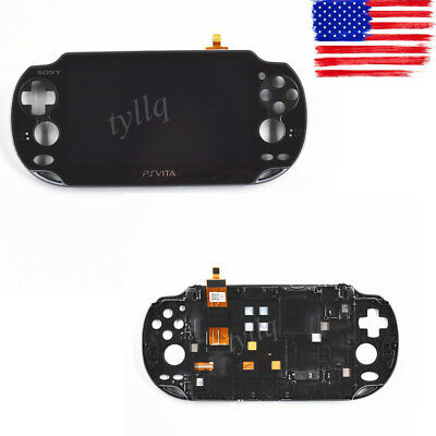 NEW Black LCD Screen Display Digitizer FOR SONY PS Vita PCH1001 Assembly frame
