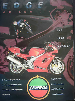 "LAVERDA 750S RED # ORIGINAL VINTAGE MOTORCYCLE ADVERT # 11""x 8"""