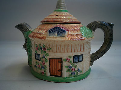 Thatched Rose Cottage Teapot Made in Japan, cottage ware, collectors  - EG
