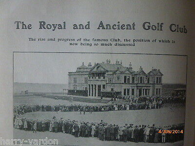 The Royal & Ancient Golf Club R&A Rare Scarce Antique St Andrews Article 1907