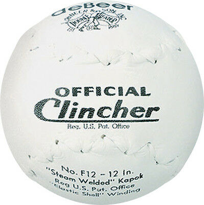 """ONE DOZEN deBeer Clincher Official Softball F12 12"""" Slowpitch Doubleheader Worth"""