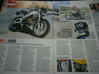 Buell Xb9S First Ride 3 Page Original Motorcycle Article