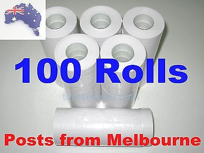 100x Rolls of White Paper Labels 16x23mm for Motex MX-6600 etc.. MELBOURNE
