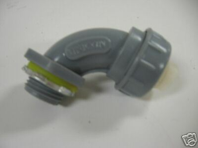 "1/2"" PVC Non-Metallic Liquid Tight 90 Degree Connectors (PACK OF 10)"